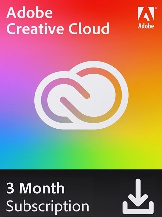 Adobe Creative Cloud 3 Months (PC/Mac) - Adobe Key - GLOBAL - 1