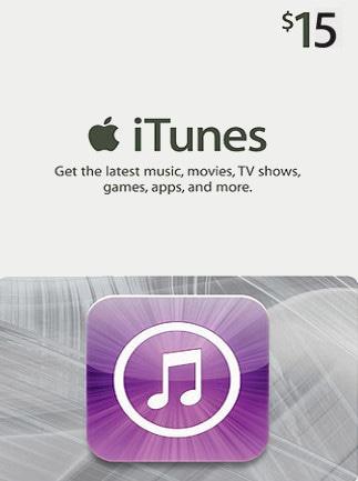 Apple iTunes Gift Card NORTH AMERICA 15 USD iTunes - 1