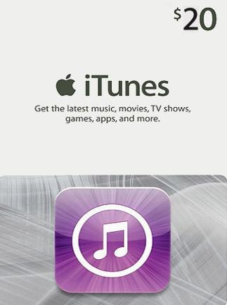 Apple iTunes Gift Card 20 USD - iTunes Key - NORTH AMERICA - 1