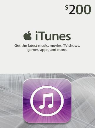 Apple iTunes Gift Card NORTH AMERICA 200 USD iTunes - 1