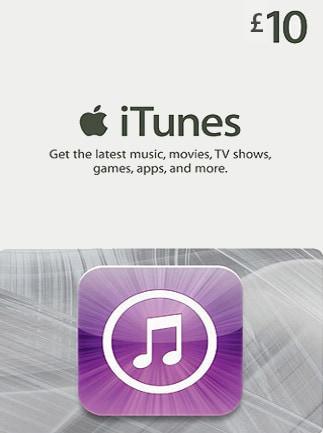 Apple iTunes Gift Card UNITED KINGDOM 10 GBP iTunes - 1