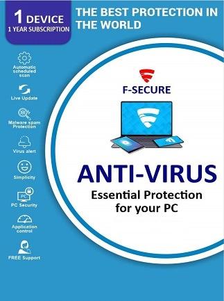 F-Secure Antivirus 1 Device 1 Year Key - GLOBAL - 1