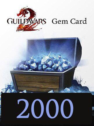 Guild Wars 2 GAMECARD 2000 Gems NCSoft Key EUROPE - 1