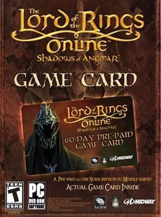 Lord of the Rings Online Time Card Prepaid 60 Days LOTRO EUROPE - 1