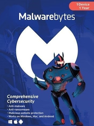 Malwarebytes Anti-Malware Premium 1 Device GLOBAL Key PC, Android, Mac 12 Months - 1