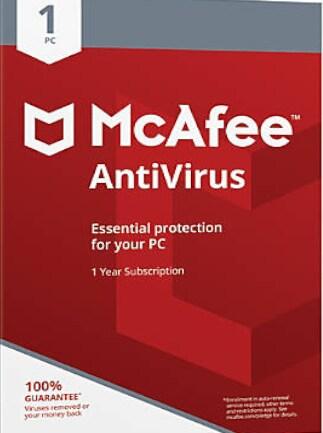 McAfee AntiVirus PC 1 Device 1 Year McAfee Key GLOBAL - 1