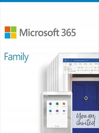 Microsoft Office 365 Family (PC/Mac) - 6 Devices, 6 Months - Microsoft Key - GLOBAL - 1