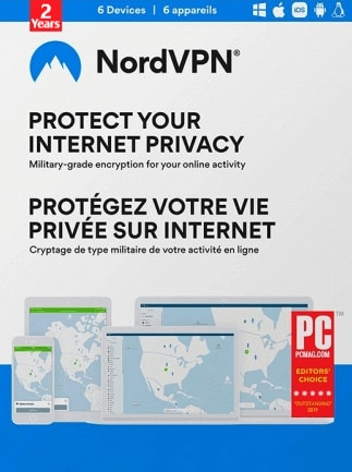NordVPN VPN Service (PC, Android, Mac, iOS) 6 Devices, 2 Years - NordVPN Key - GLOBAL - 1