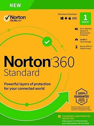Norton 360 Standard Non-Subscription - (1 Device, 1 Year) - Symantec Key EUROPE - 1