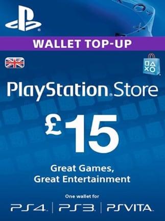 PlayStation Network Gift Card 15 GBP PSN UNITED KINGDOM - 2