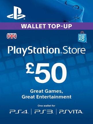 PlayStation Network Gift Card 50 GBP PSN UNITED KINGDOM - 1