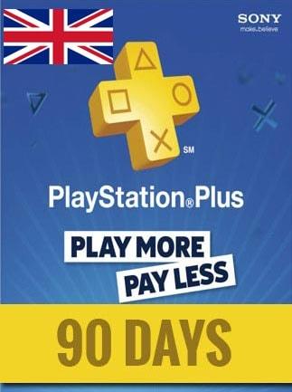 Playstation Plus CARD 90 Days PSN UNITED KINGDOM - 1