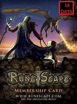 RuneScape Membership Timecard 16 Days (PC) - Runescape Key - GLOBAL - 1