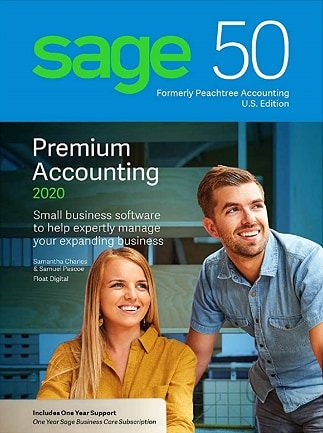 SAGE 50 2020 U.S. Edition (PC) - 5 User PREMIUM ,1 Year - Sage Key - UNITED STATES - 1