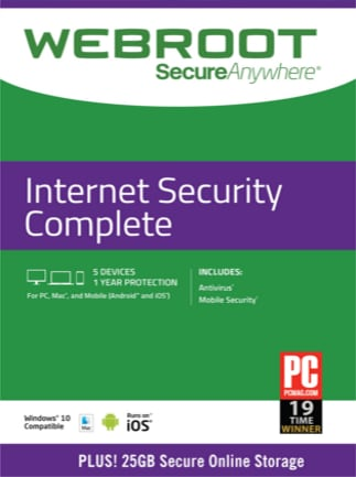 Webroot Internet Security Complete 5 Devices 1 Year Key GLOBAL - 1