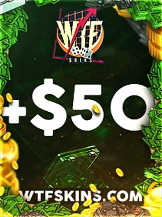 WTFSkins 50 USD Code - 1