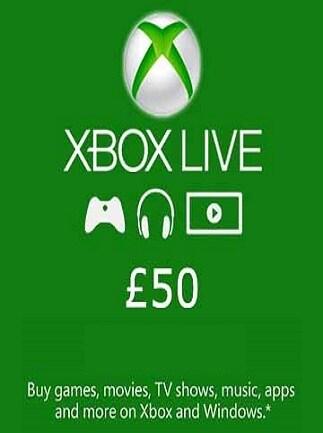 XBOX Live Card (Xbox One) 50 GBP - Xbox Live Key - UNITED KINGDOM - 1