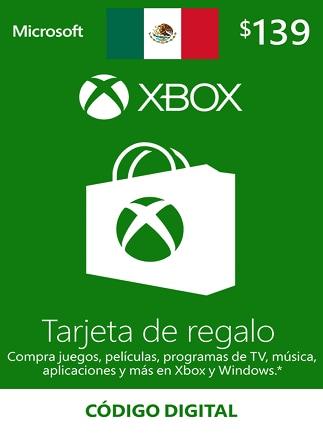XBOX Live Gift Card 139 MXN - Xbox One Key - MEXICO - 1