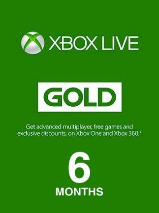 Xbox Live GOLD Subscription Card 6 Months Xbox Live UNITED STATES - 1