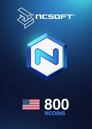 800 NCoins NCSoft Code NORTH AMERICA - 1