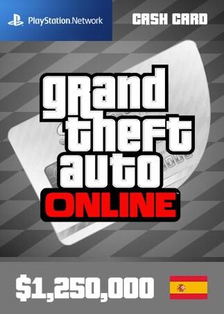 Grand Theft Auto Online: Great White Shark Cash Card 1 250 000 PS4 PSN Key SPAIN - 1