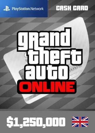 Grand Theft Auto Online: Great White Shark Cash Card 1 250 000 PS4 PSN Key UNITED KINGDOM - 1