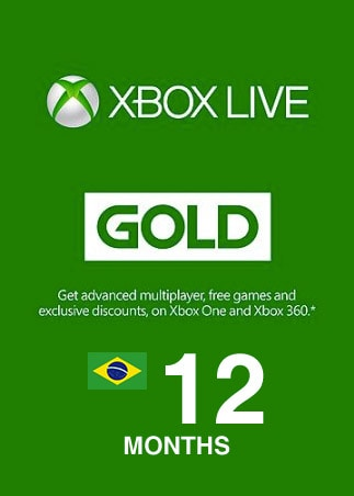 Xbox Live GOLD Subscription Card 12 Months - Key BRAZIL - 1