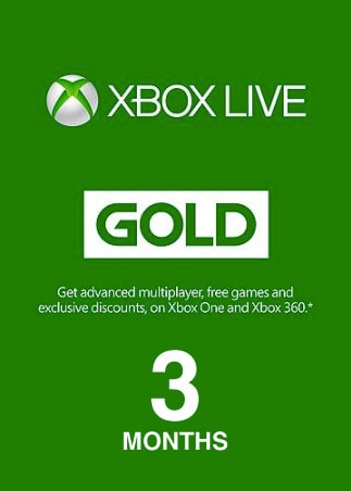 Xbox Live GOLD Subscription Card 3 Months Xbox Live EUROPE - 1