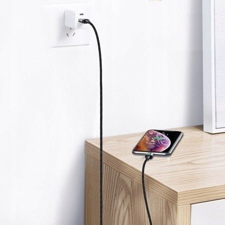 Baseus Zinc Cable USB - Type-C 1m Black Quick Charge 3A CATXC-A01 Black - 6