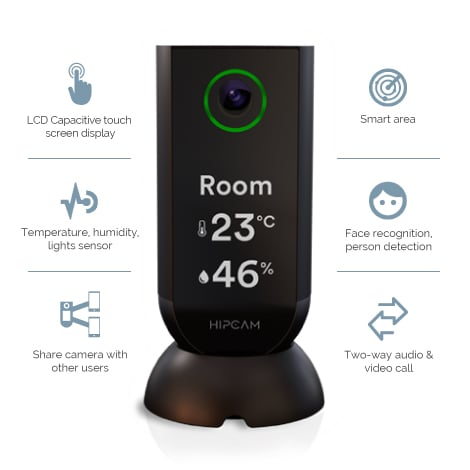 HIPCAM Indoor Smart Home Security Camera WiFi 1080 FHD Nigth Vision 2 Way Audio&Video Face & person detection - 3