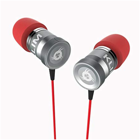 KLIM Fusion Earphones High Quality Audio + 5 years Warranty - Innovative: In-Ear with Memory Foam Red - 1