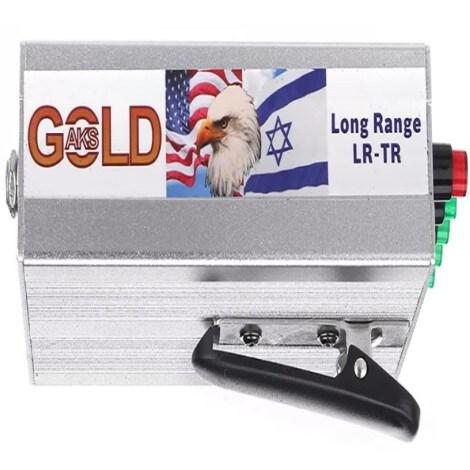 Original The Real Gold AKS Handhold Pro Metal/Gold Detector 6000M Range 6 Antenna Diamond Finder w/Case - Black - 10