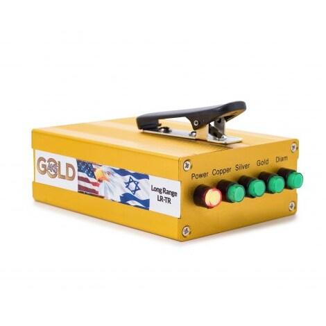 Original The Real Gold AKS Handhold Pro Metal/Gold Detector 6000M Range 6 Antenna Diamond Finder w/Case - Black - 7