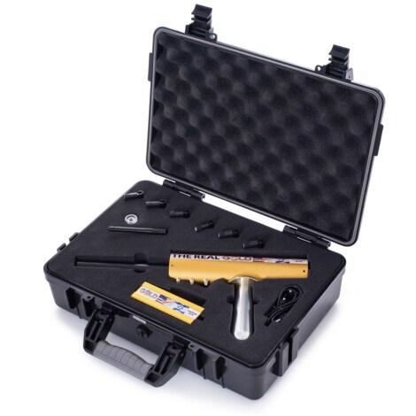 Original The Real Gold AKS Handhold Pro Metal/Gold Detector 6000M Range 6 Antenna Diamond Finder w/Case - Black - 2