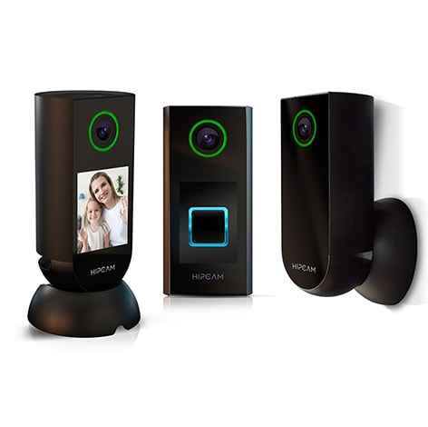 HIPCAM Smart Security Camera Pack Pro 1 (Indoor+Outdoor+Doorbell)Wifi HD, Nigth vision Face&Person detection - 1