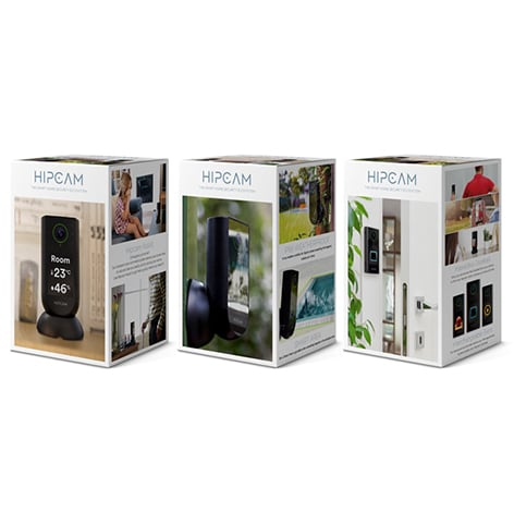HIPCAM Smart Security Camera Pack Pro 1 (Indoor+Outdoor+Doorbell)Wifi HD, Nigth vision Face&Person detection - 5