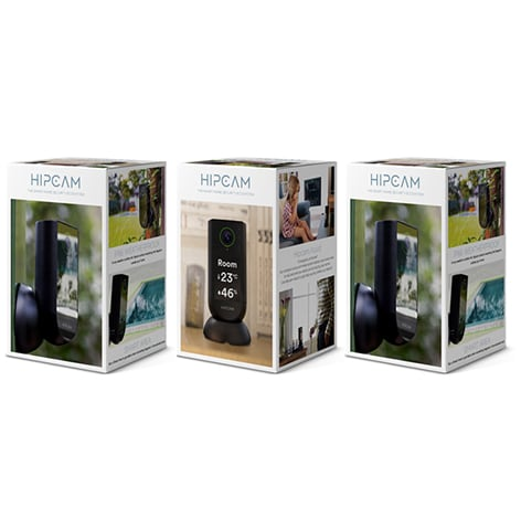 HIPCAM Smart Security Camera Pack Pro 3 (Indoor + 2 Outdoor)Wifi Full HD, Nigth vision Face&Person detection - 4