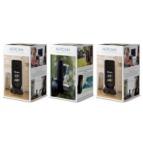 HIPCAM Smart Security Camera Pack Pro 4 (Outdoor + 2 Indoor)Wifi 1080 FHD, Nigth vision Face&Person detection - 4