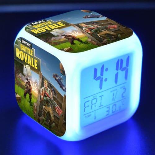 Fortnite Game Figures Color Changing Night Light Alarm Clock Kids Toy Gift - 1