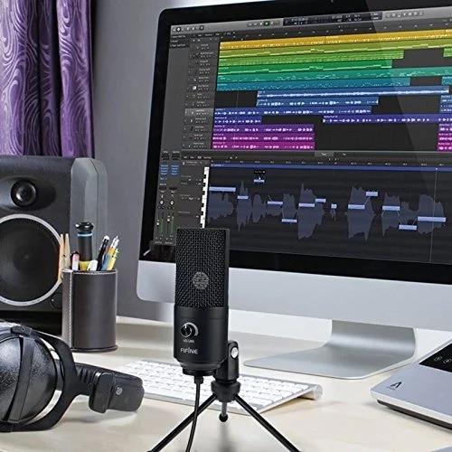 Metal USB Condenser Recording Microphone For Laptop Windows - 6