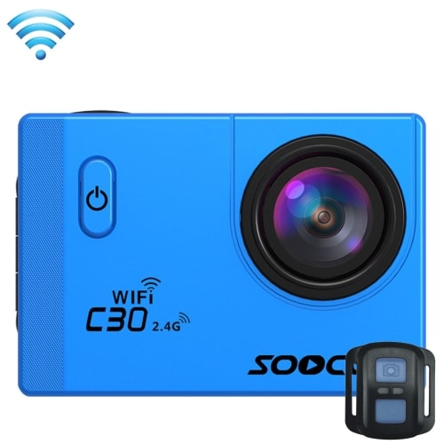 SOOCOO C30R Wifi 4K Sports Action Camera - Gyro 2.0 inch, LCD Screen, 30M Waterproof, Adjustable Angle Blue - 4