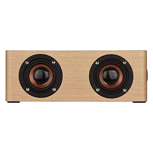 Wolfsay Wooden Bluetooth Alarm Clock Speaker 3600mAh Battery Support Audio Input TF Card/U-disk Play - 6