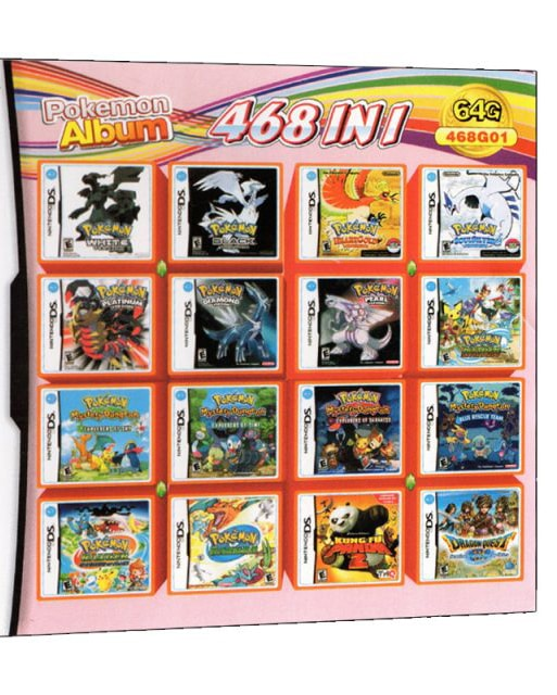 468 in 1 Video Game Cartridge Compilation Card For DS 2DS 3DS NDSL NDSI Console Nintendo 3DS - 1
