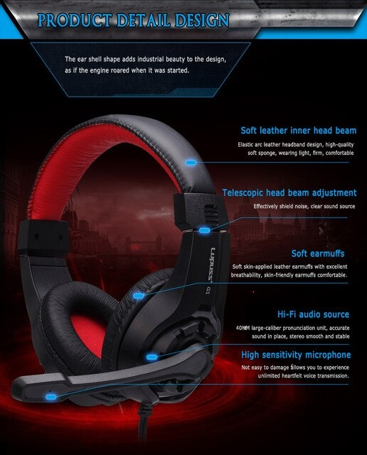 Stereo Gaming Headset  Blue - 3
