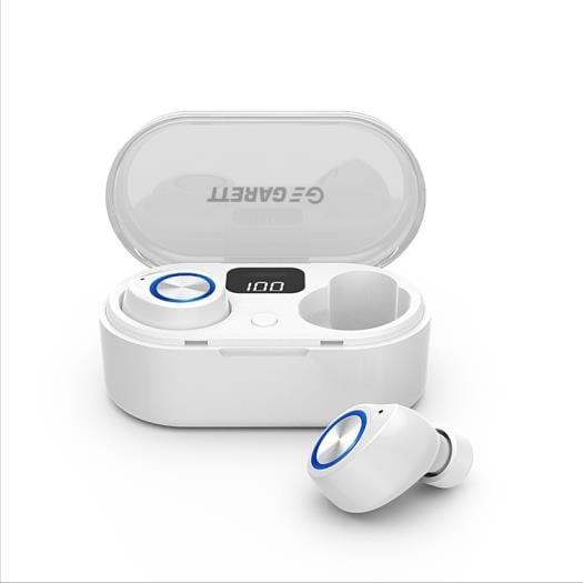 Słuchawki Z Mikrofonem Garett Sound Lite Bezprzewodowe Białe - 1