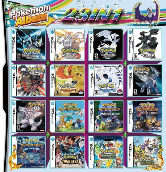 23 In 1 Video Game Compilation Card For Nintendo DS/3DS/2DS Console Nintendo 3DS - 1