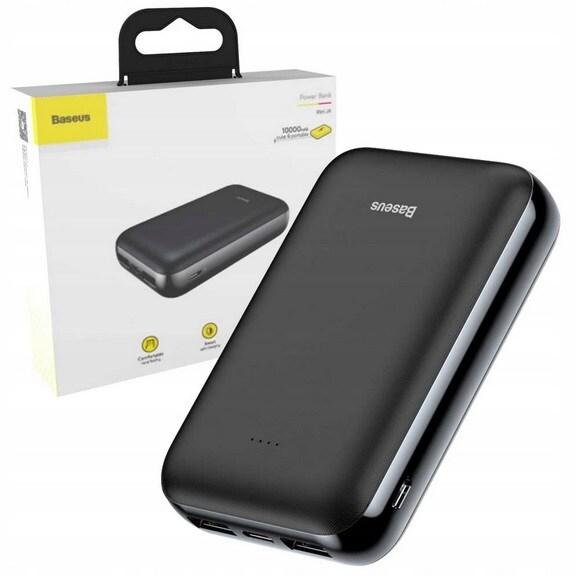 BASEUS MAŁY POWERBANK 10000mAh USB/USB-C/MICRO - 1