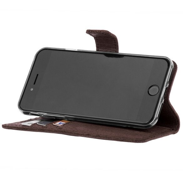 Huawei P30 Lite- Surazo® Phone Case Genuine Leather- Nubuck Brown - 4