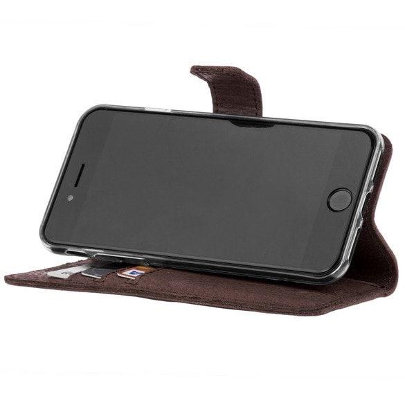 Xiaomi Redmi 6A- Surazo® Phone Case Genuine Leather- Nubuck Brown - 4