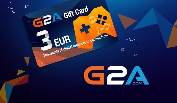 G2A Gift Card G2A.COM Key GLOBAL 3 EUR - 1
